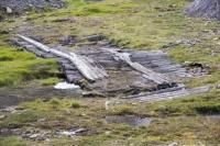 Longyearbyen-Spitsbergen-Svalbard-Arctic-Arctic-Circle-architect;water-warm-melt-melting-permafrost-permafrost-melt-global-warmin