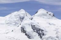 Switzerland;Zermatt;Gornergletscher;Alps;Alpine;mountain;mountainous;snow;ice;glacier;glacial;glacial-retreat;recede;receeding;melt;melting;warming;global-warming;rock;bare-rock;exposed;temperature;melting-glacier;moraine;retreat;retreating;ablation;crevasse;Breithorn