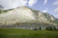 Alps;Alpine;mountain;Zermatt;Switzerland;rockfall;landslide;earth-movement;mass-movement;debris;debris-fan;gravity;global-warming;warming;permafrost;permafrost-melt;affects