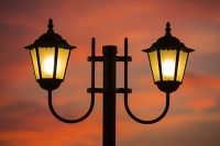 Sivota;Greece;Mediterranean;sea;coast;warm;tranquill;calm;serene;harbour;port;sunset;evening;glow;warm;light;waterfront;light;lamp;street-light;street-lamp;lamp-post