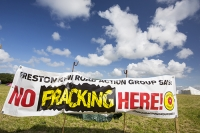 fracking;frack;gas;shale-gas;energy;power;drilling;protest;banner;anti;camp;protest-camp;environment;environmentalist;green;politics;planning-permission;Lancashire;UK;Fylde;Blackpool;Little-Plumpton;farmland;colourful;protest;protesting;colourful;campaign;climate-change;global-warming;pollution;destruction;health;future;tent;movement;banner;placard;Cuadrilla