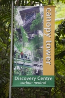 IMG_5953_eco tourism.jpg The Daintree Discovery Centre in the Daintree rainforest in the North of Queensland, Australia, which is the oldest continuously forested rainforest area on the planet. The Discovery Centre is carbon neutral, offsetting almost double its carbon footprint by planting rainforest trees in degraded parts of the forest.