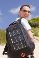 man;male;rucksack;rucksac;backpack;bag;black;solar;solar-panel;renewable-energy;electricity;voltaic;solar-bag;solar-rucksack