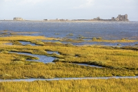 Walney;Walney-Island;Cumbria;UK;beach;coast;Irish-sea;building;island;Piel-Castle;Piel-Island;tidal;high-tide;saltmarsh;salt-marsh;coastal;channel;Walney-Channel;vegetation;creek;house