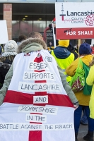 fracking;shale-gas;Blackpool;Lancashire;UK;protest;fossil-fuel;climate-change;global-warming;banner;placard;concern;environment;environmentalist;yellow;colourful;gas;energy;energy-policy;planning;planning-application;planning-appeal;Cuadrilla;David-and-Goliath;battle;localism;democracy;person;man;woman;concerned;green