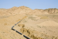Egypt;Sinai;desert;sinai-desert;Dahab;Red-Sea;resort;coast;arabic;arab;heat;hot;dry;drought;mountain;hill;rock;rocky;geology;climate-change;global-warming;dusty;climate-shift;desertification;ridge;erosion;eroded;sand;sandy;pipe;pipeline