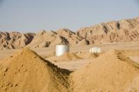 Egypt;Sinai;desert;sinai-desert;Dahab;Red-Sea;resort;coast;arabic;arab;heat;hot;dry;drought;mountain;hill;rock;rocky;geology;climate-change;global-warming;dusty;climate-shift;desertification;ridge;erosion;eroded;sand;sandy;oil;oil-tank;storage;depot;tanker