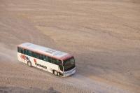 Egypt;Sinai;desert;sinai-desert;Dahab;Red-Sea;coach;transport;trip;tourism;tourist-trip;excursion;travel;off-road;sand;sandy;track;dust;dusty
