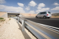 Andalucia;Spain;transport;travel;infrastructure;road;road-building;investment;European;funding;EU;development;bridge;road-sign;parapet;crash-barrier;modern;car;road-markings