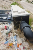 Alicante;Costa-Blanca;Murcia;Spain;landfill;rubbish;trash;garbage;tip;rubbish-tip;dump;garbage-dump;environment;green;climate-change;global-warming;greenhouse-gas;methane;bio-methane;pipe;plastic;piping;capture;capturing;tapping;tapping-off;renewable-energy;energy;power
