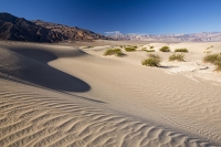California;USA;America;Death-Valley;desert;drought;hot;dry;low;heat;National-Park;preserved;protected;mud-cracks;lake-bed;dessicated;barren;mountain;mountain-range;geology;rocks;sand;sandy;tumble-weed;tumbleweed;sand-dunes;Mesquite-Falt;ripple;ripple-marks;patterns;markings;sand-ripples