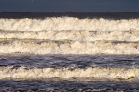 Northumberland;UK;Seahouses;weather;wave;breaking;surf;light;sunlight;beach