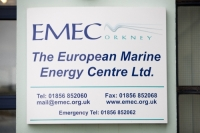 Orkney;Scotland;UK;coast;sea;power;energy;renewable;renewable-energy;wave-power;wave-energy;tidal-power;tidal-energy;EMEC;European-Marine-Energy-Centre;Stromness;investment;technology;accredited;test-centre;testing;innovative;business;green;clean;environment;climate-change;global-warming;head-off-ice;centre;logo;sign;entrance