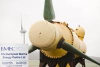 Orkney;Scotland;UK;coast;sea;power;energy;renewable;renewable-energy;wave-power;wave-energy;tidal-power;tidal-energy;EMEC;European-Marine-Energy-Centre;investment;technology;test-centre;testing;innovative;business;green;clean;environment;climate-change;global-warming;electricity;blade;turbine;tidal-turbine;Kirkwall;yellow;wind-power;wind-turbine;windmill