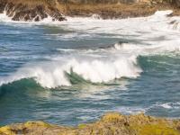 Cornwall;South-West;coast;island;island;rock;weathering;erosion;wave;wave-power;energy;breaking;breaking-wave;splash;spray;UK
