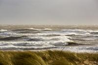 storm;stormy-weather;wind;windy;storm-Gertrude;extreme-weather;Walney;walney-Island;Cumbria;UK;beach;coast;Irish-sea;sea;waves;wave;foam;spume;climate-change;global-warming;west-coast;crashing;sky;dark;black;threatening;Marram-Grass;Ammophila