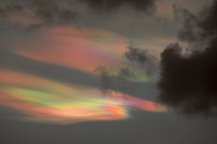 Ambleside;Lake-District;Cumbria;UK;sky;sunset;cloud;rainbow;refraction;colourful;ice-crystals;strong-wind;weird;glow;affect;bizarre;nature;weird;nacreous;nacreous-cloud