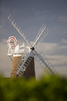 windmill;Cley-Next-the-Sea;North-Norfolk;UK;coast;wind-power;building;architecture;sail;sky;blue;green;vegetation