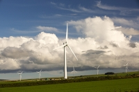 Wadebridge;Cornwall;UK;field;farm;green;eco;renewable;renewable-energy;renewable-power;power;energy;electricity;generating;carbon-footprint;carbon-neutral;climate-change;global-warming;FIT;feed-in-tariff;clean;wind-power;wind-turbine;wind-farm;blade;sky;cloud