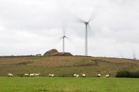 wind-farm;wind-farm;UK;renewable;renewable-energy;green;clean;carbon-neutral;energy;electricity;wind-turbine;climate-change;global-warming;field;sheep;farm;livestock;onshore;movement;motion-blur;turning;generating;Cranford;rubbish;landfill;garbage;disposal;landfill-site;Northamptonshire;Yelvertoft;Yelvertoft-windfarm