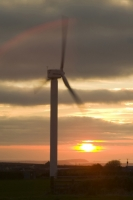 366W6036_p.jpg wind turbine's in cornwall UK at sunset near Camelford