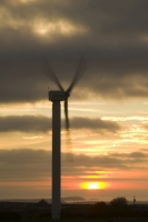 366W6048_p.jpg wind turbine's in cornwall UK at sunset near Camelford