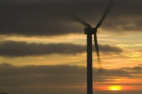 366W6050_p.jpg wind turbine's in cornwall UK at sunset near Camelford