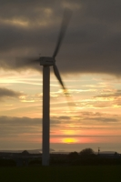 366W6061_p.jpg wind turbine's in cornwall UK at sunset near Camelford