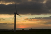 366W6077_p.jpg wind turbine's in cornwall UK at sunset near Camelford