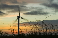 366W6094_p.jpg wind turbine's in cornwall UK at sunset near Camelford