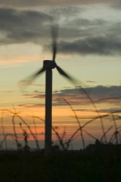 366W6095_p.jpg wind turbine's in cornwall UK at sunset near Camelford