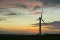 366W6106_p.jpg wind turbine's in cornwall UK at sunset near Camelford