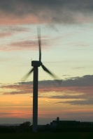 366W6110_p.jpg wind turbine's in cornwall UK at sunset near Camelford