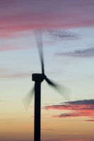 366W6120_p.jpg wind turbine's in cornwall UK at sunset near Camelford