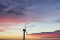 366W6121_p.jpg wind turbine's in cornwall UK at sunset near Camelford