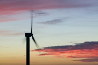 366W6124_p.jpg wind turbine's in cornwall UK at sunset near Camelford