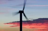 366W6131_p.jpg wind turbine's in cornwall UK at sunset near Camelford