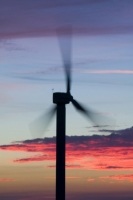 366W6133_p.jpg wind turbine's in cornwall UK at sunset near Camelford