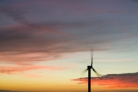 366W6138_p.jpg wind turbine's in cornwall UK at sunset near Camelford